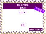 decimals 200