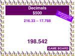 decimals 500