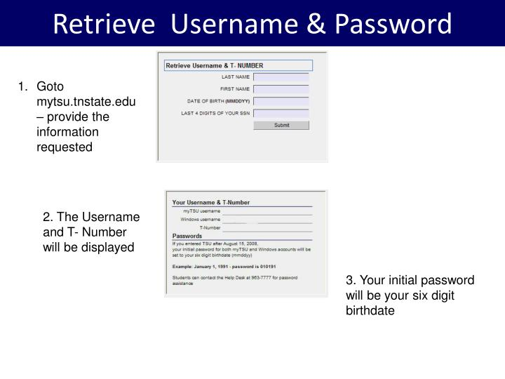 Retrieve  Username & Password