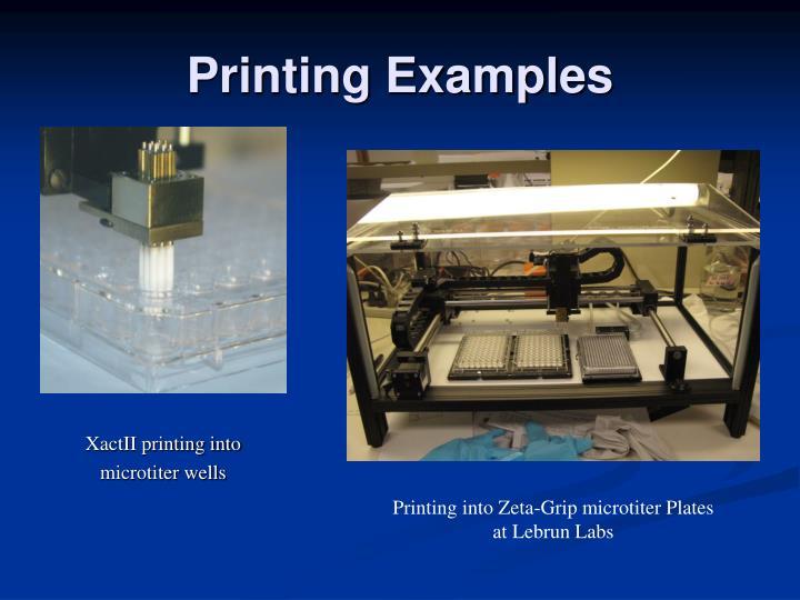 Printing Examples