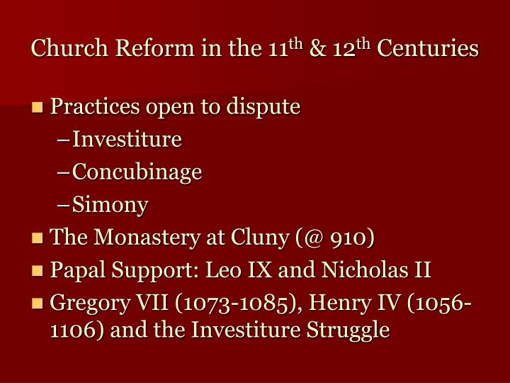 Church Reform in the 11