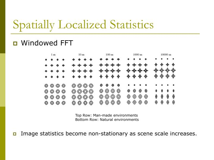 Spatially Localized Statistics
