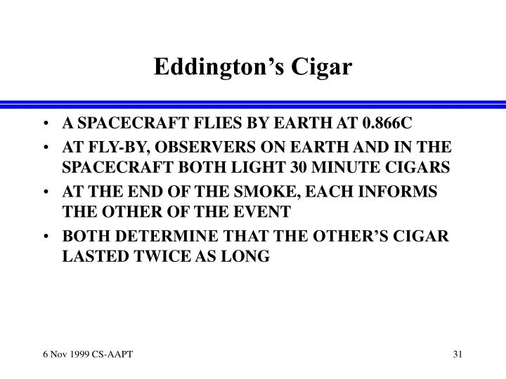 Eddington's Cigar