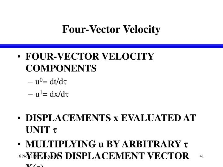 Four-Vector Velocity