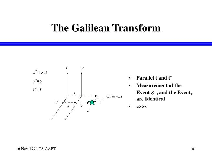 The Galilean Transform