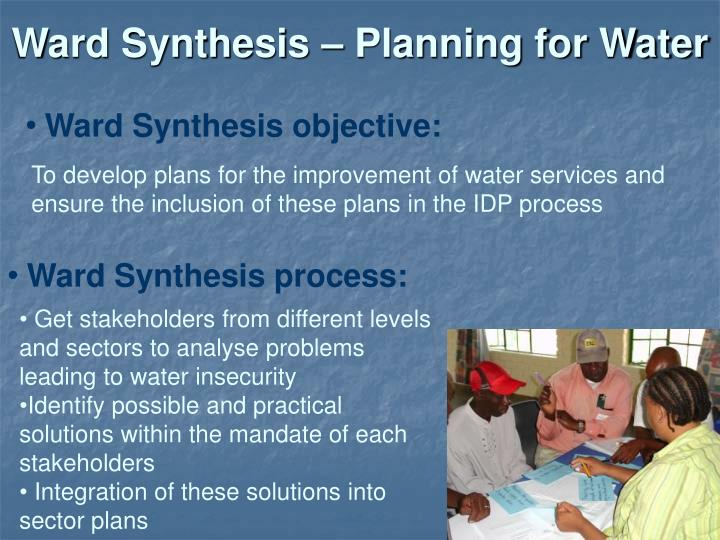 Ward Synthesis – Planning for Water
