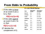 from odds to probability