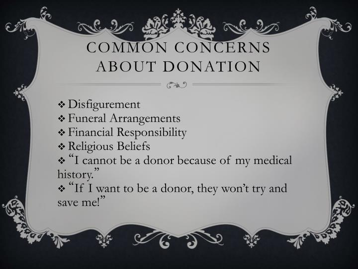 Common Concerns About Donation