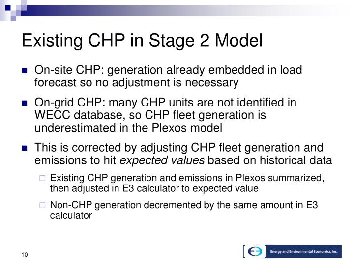Existing CHP in Stage 2 Model
