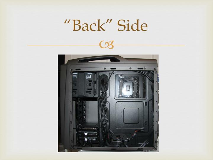 """""""Back"""" Side"""