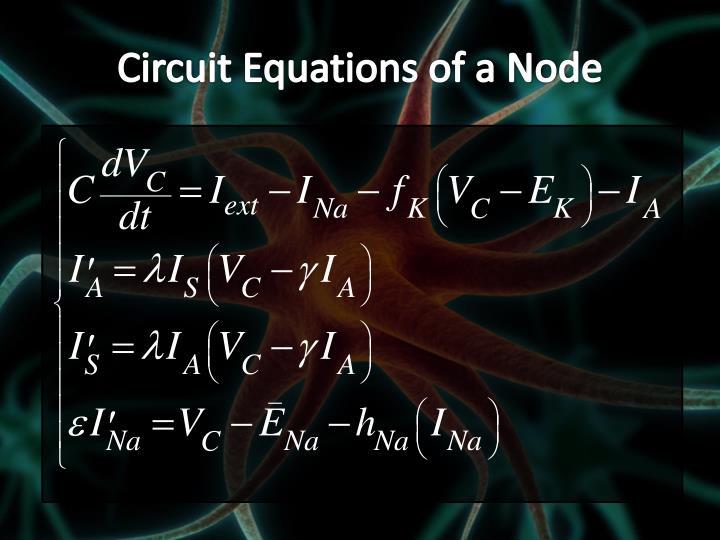 Circuit Equations of a Node