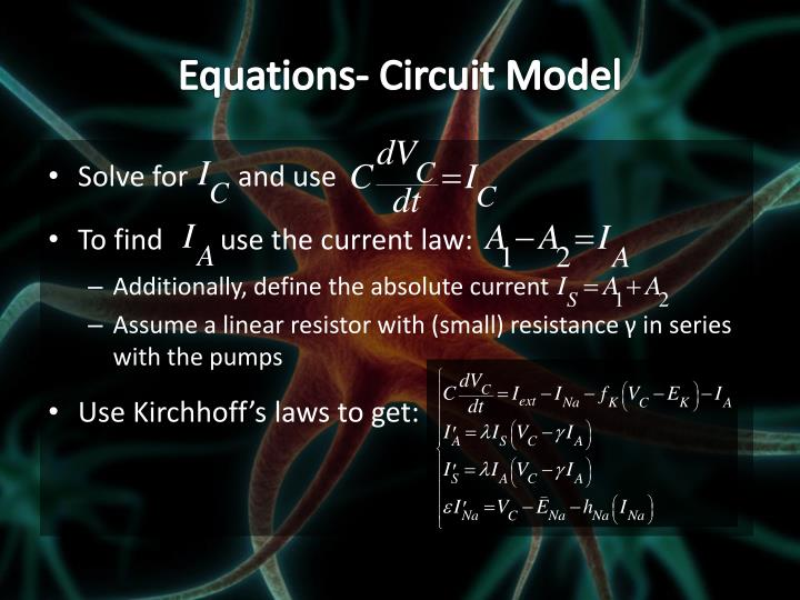 Equations- Circuit Model