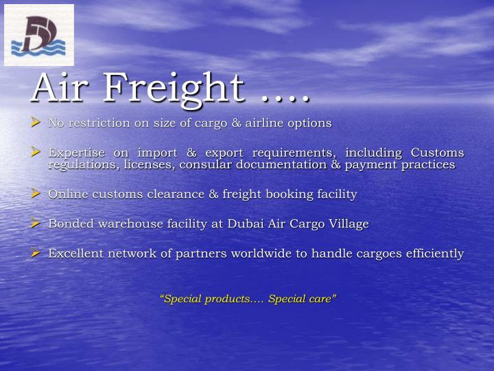Air Freight ….