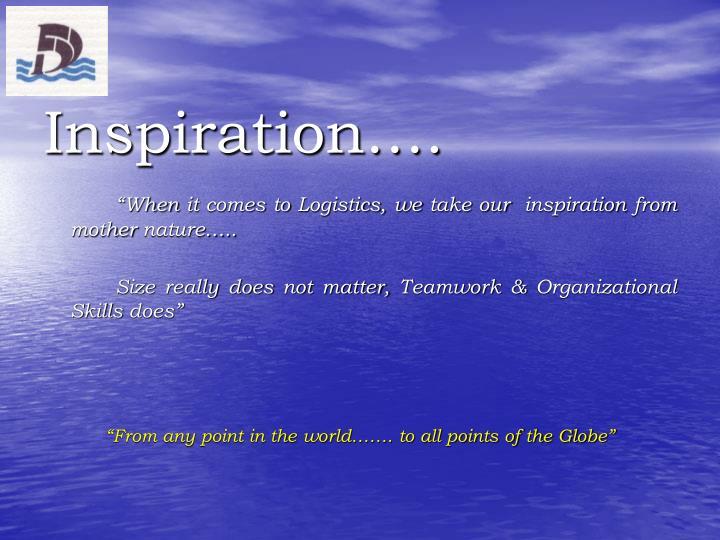 Inspiration….