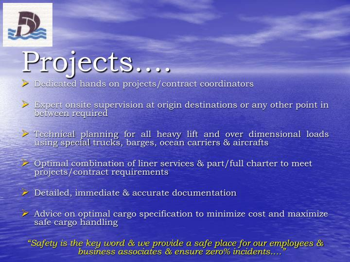 Projects….