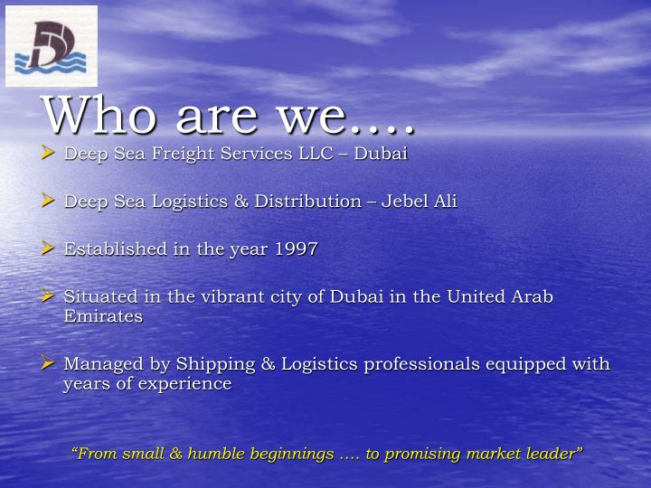 Who are we….