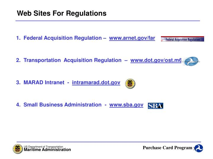 Web Sites For Regulations