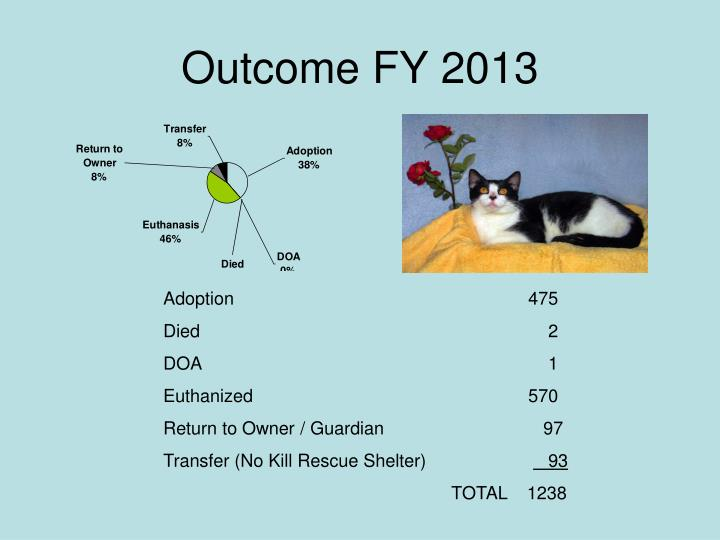 Outcome FY 2013
