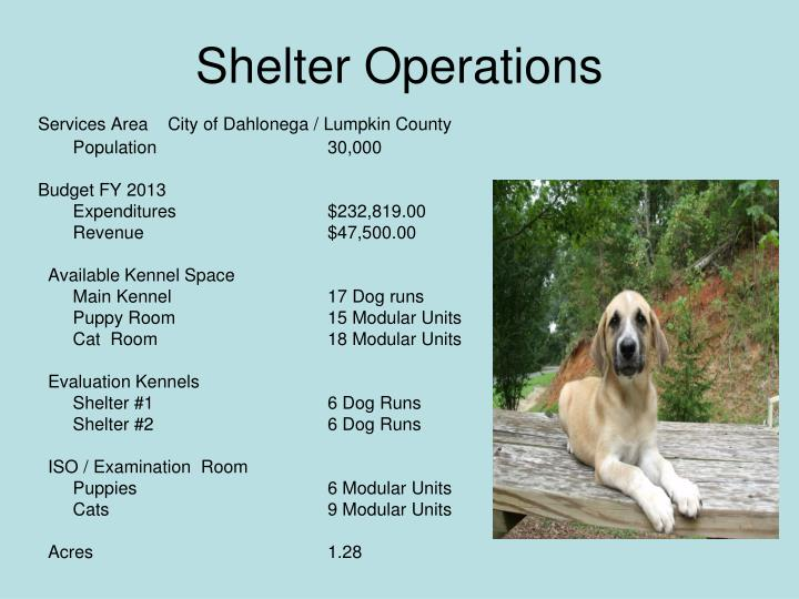 Shelter Operations
