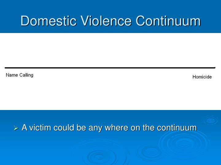 Domestic Violence Continuum
