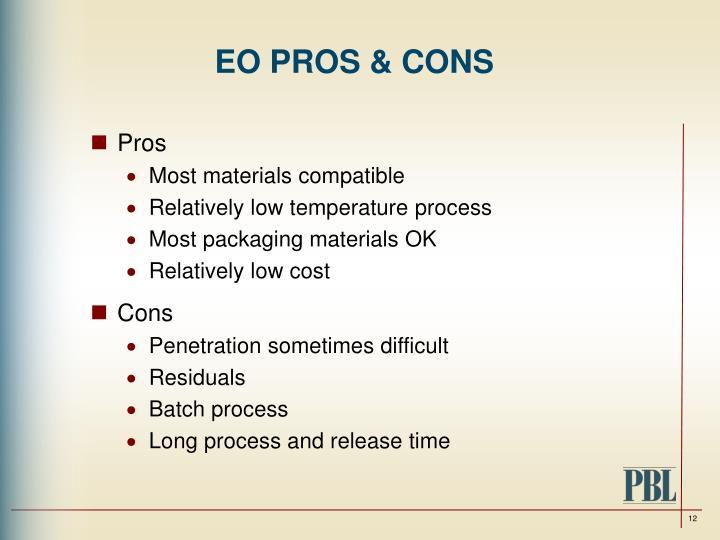 EO PROS & CONS