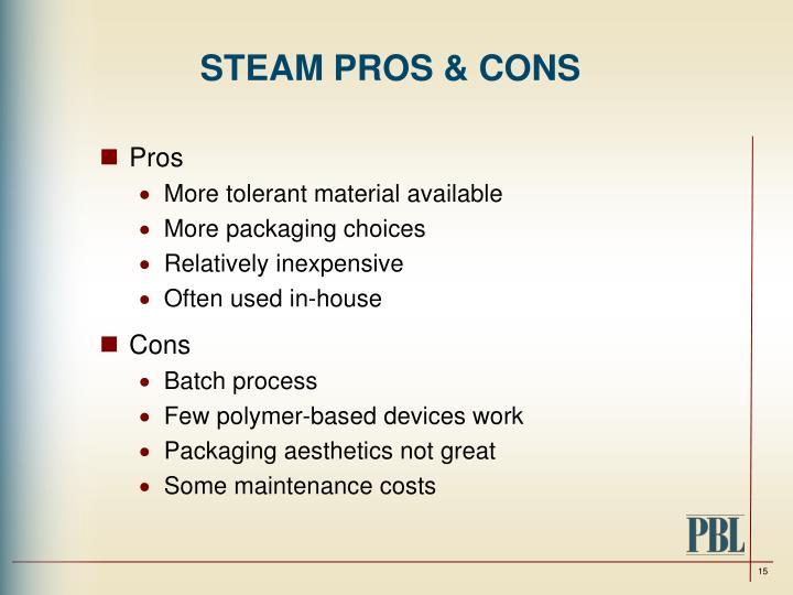 STEAM PROS & CONS