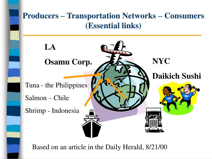 Producers transportation networks consumers essential links