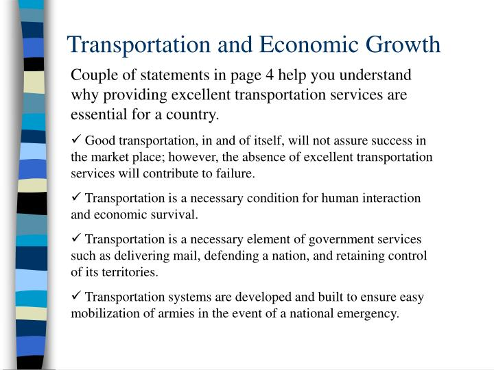 Transportation and economic growth