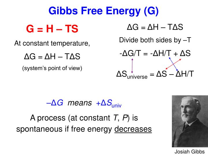 Gibbs Free Energy (G)