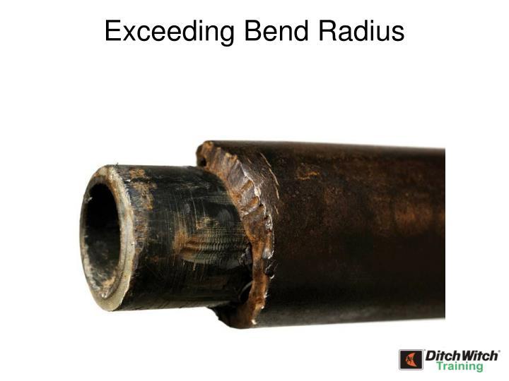 Exceeding Bend Radius