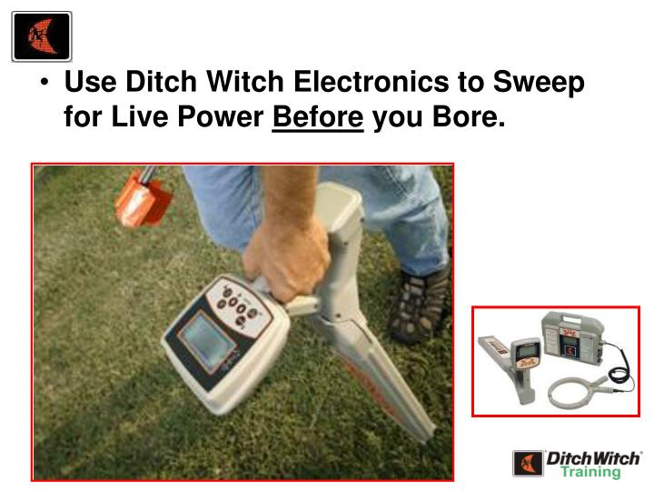 Use Ditch Witch Electronics to Sweep for Live Power