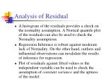analysis of residual1