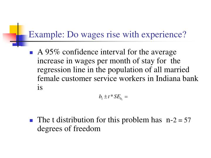 Example: Do wages rise with experience?