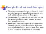 example retail sales and floor space1