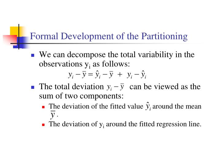 Formal Development of the Partitioning