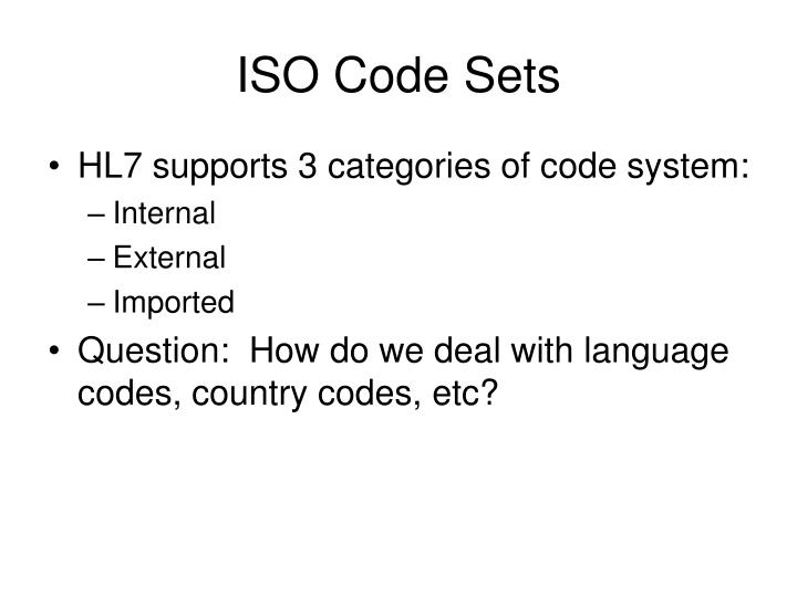 ISO Code Sets