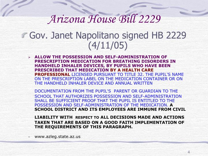 Arizona House Bill 2229
