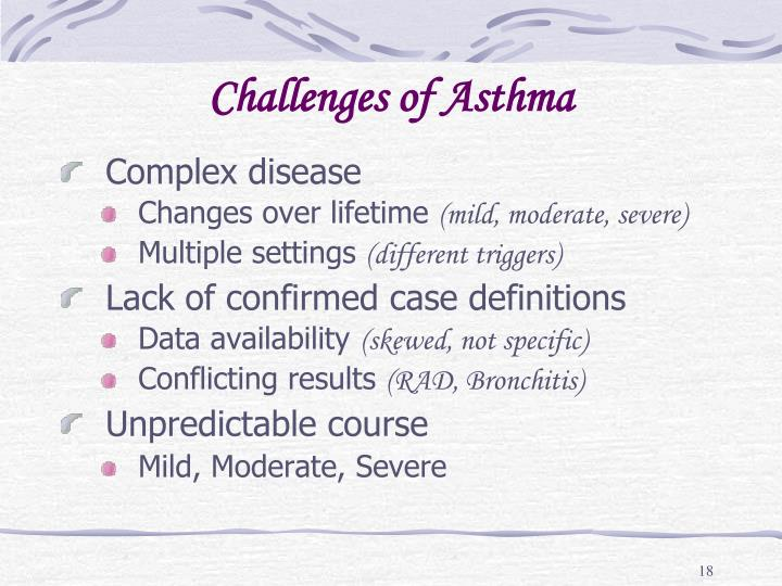 Challenges of Asthma