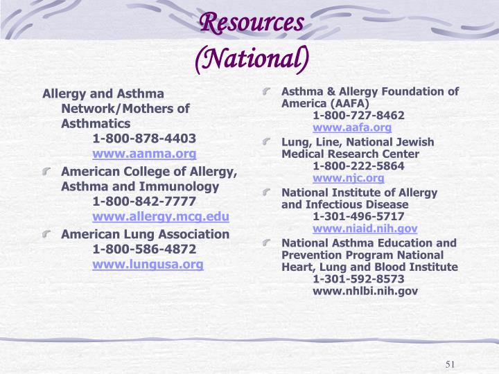 Allergy and Asthma Network/Mothers of Asthmatics1-800-878-4403
