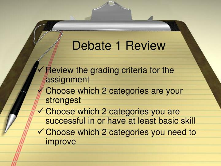 Debate 1 review