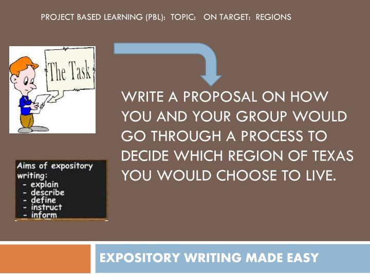 Expository writing made easy