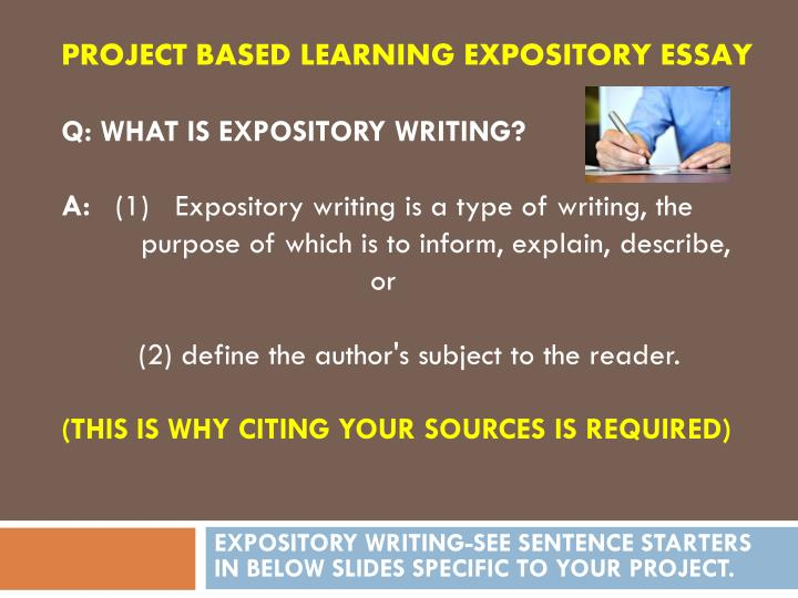 PROJECT BASED LEARNING EXPOSITORY