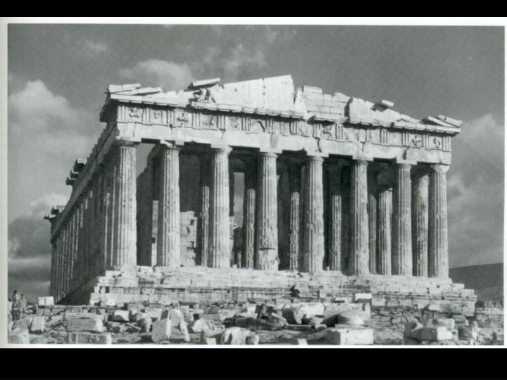 Greek the parthenon view from the west 448 432 b c acropolis athens
