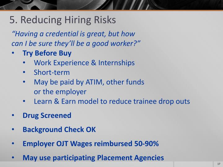 5. Reducing Hiring Risks