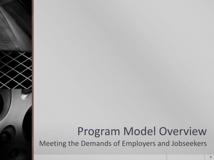 Program Model Overview
