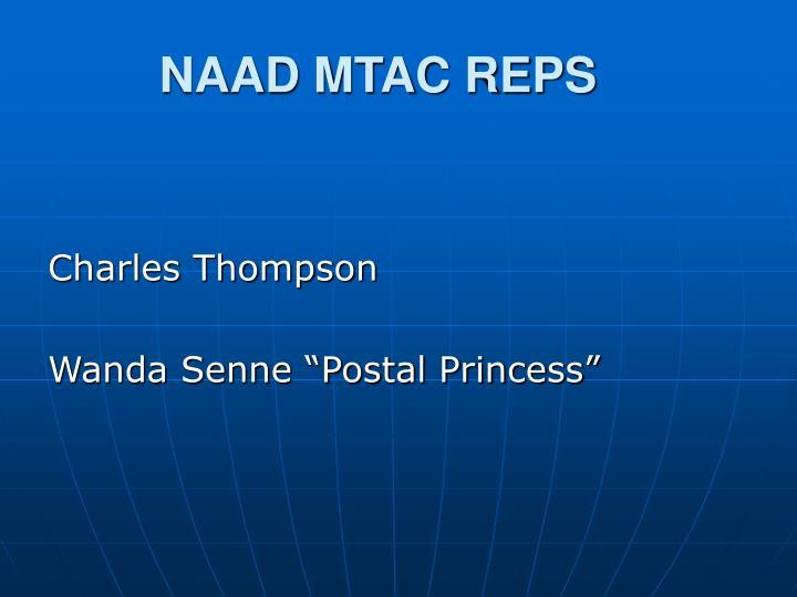 NAAD MTAC REPS