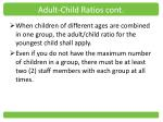 adult child ratios cont1