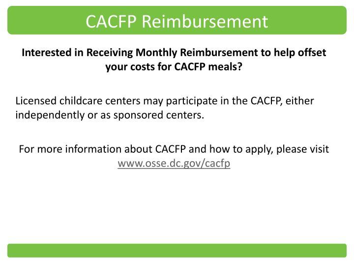 CACFP Reimbursement