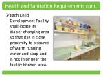 health and sanitation requirements cont1