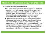 health and sanitation requirements cont4